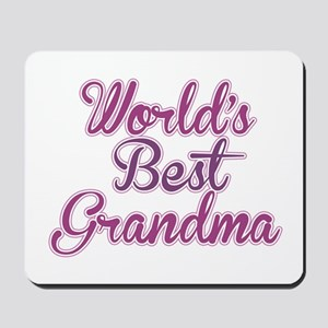 Worlds Best Grandma Design Mousepad