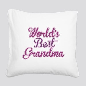 Worlds Best Grandma Design Square Canvas Pillow