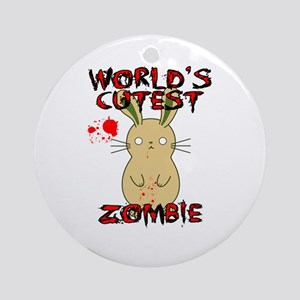 Worlds Cutest Zombie Ornament (Round)