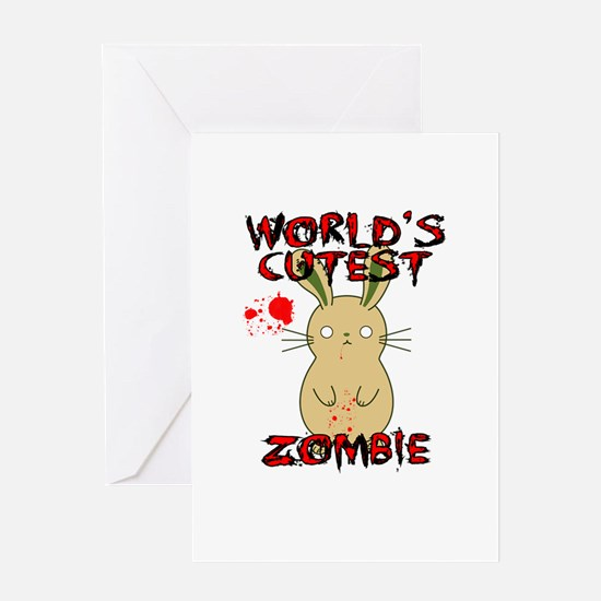 Worlds Cutest Zombie Greeting Cards