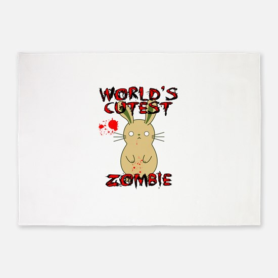 Worlds Cutest Zombie 5'x7'Area Rug