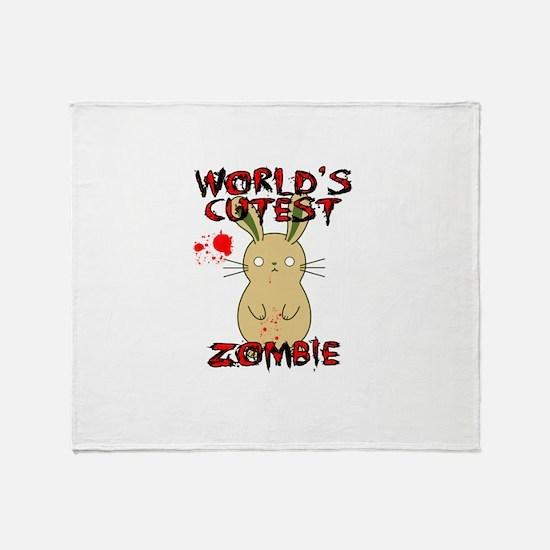 Worlds Cutest Zombie Throw Blanket