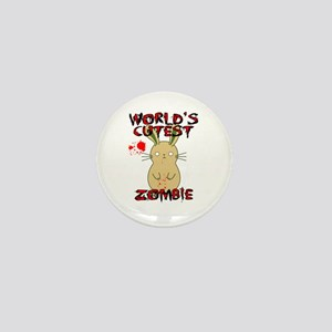 Worlds Cutest Zombie Mini Button