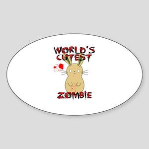 Worlds Cutest Zombie Sticker
