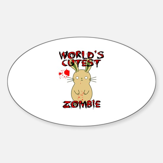 Worlds Cutest Zombie Decal