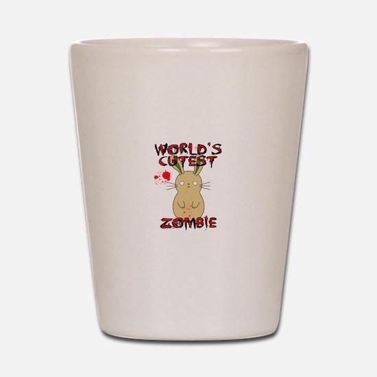 Worlds Cutest Zombie Shot Glass