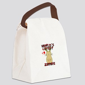 Worlds Cutest Zombie Canvas Lunch Bag