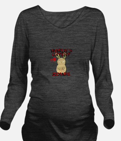Worlds Cutest Zombie Long Sleeve Maternity T-Shirt