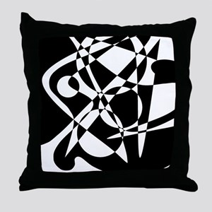 Squiggles And Circles #1 Throw Pillow