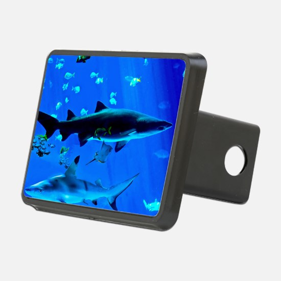 2 Black Tipped Sharks Hitch Cover