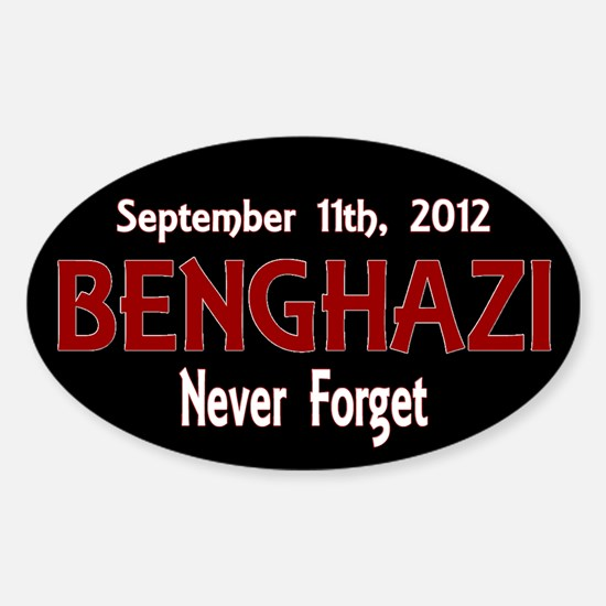 Benghazi Sticker (Oval)
