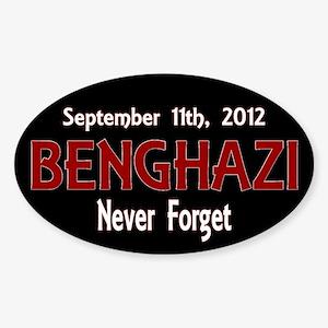 Benghazi Sticker (Oval 50 pk)