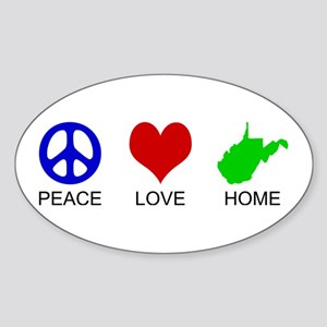 Peace Love Home Oval Sticker