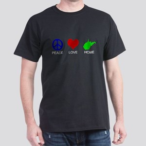 Peace Love Home Dark T-Shirt