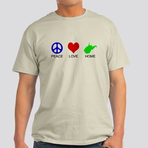 Peace Love Home Light T-Shirt