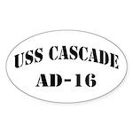USS CASCADE Sticker (Oval)