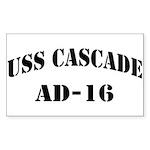 USS CASCADE Sticker (Rectangle)