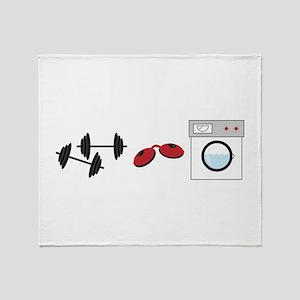 Gym Tan Laundry Throw Blanket