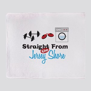 Straight From Jersey Sleare Throw Blanket