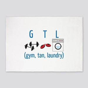 G T L (gym,tan,laundry) 5'x7'Area Rug