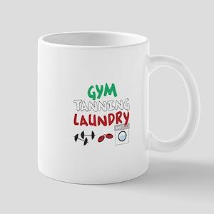 GYM TANNING LAUNDRY Mugs