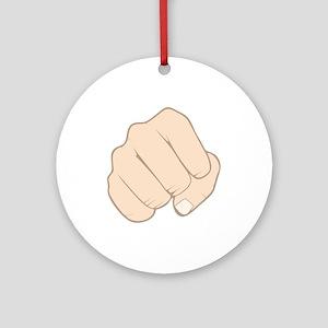 Fist Pump Ornament (Round)