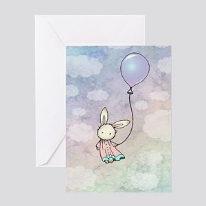 sweet bunny with Greeting Card