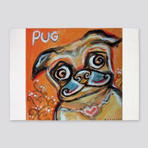 Pug Smile Love Pop Art Painting by Angie Ketelhut