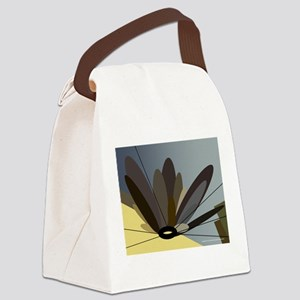 metal flower browns by bjork Canvas Lunch Bag