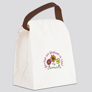 Gardens are Rainbows on Land Canvas Lunch Bag