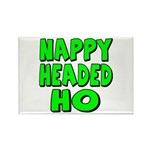 Nappy Headed Ho Green Design Rectangle Magnet (100