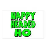 Nappy Headed Ho Green Design Postcards (Package of