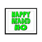 Nappy Headed Ho Green Design Framed Panel Print
