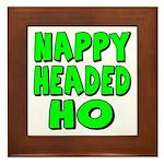 Nappy Headed Ho Green Design Framed Tile