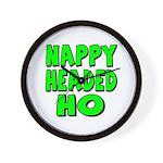 Nappy Headed Ho Green Design Wall Clock