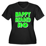 Nappy Headed Ho Green Design Women's Plus Size V-N