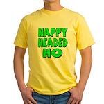 Nappy Headed Ho Green Design Yellow T-Shirt