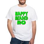 Nappy Headed Ho Green Design White T-Shirt