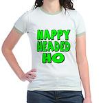 Nappy Headed Ho Green Design Jr. Ringer T-Shirt