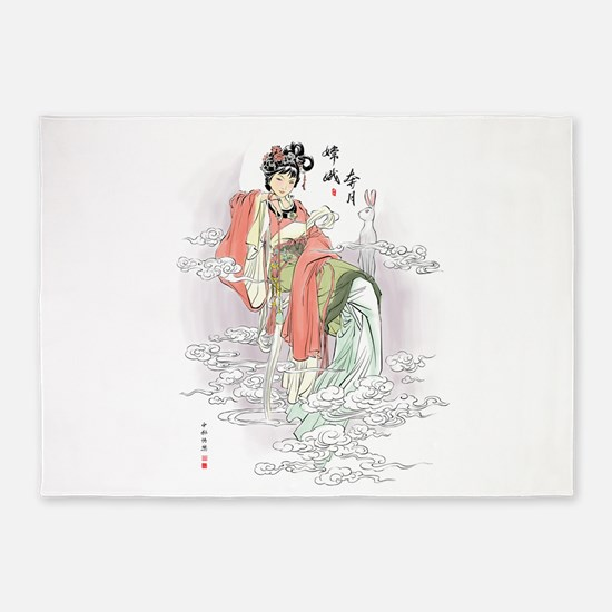 Chinese Moon Goddess 5'x7'Area Rug