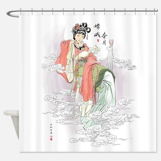 Chinese Moon Goddess Shower Curtain