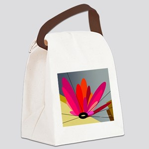 metal flower pinks Canvas Lunch Bag