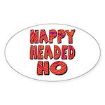 Nappy Headed Ho Hypnotic Design Oval Sticker