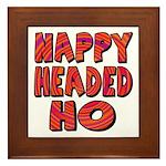 Nappy Headed Ho Hypnotic Design Framed Tile