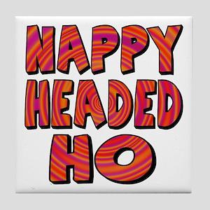 Nappy Headed Ho Hypnotic Design Tile Coaster