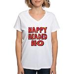 Nappy Headed Ho Hypnotic Design Women's V-Neck T-S
