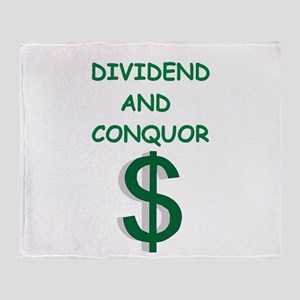 dividends Throw Blanket