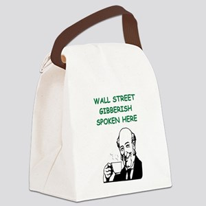 wall street Canvas Lunch Bag