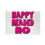 Nappy Headed Ho Pink Design Rectangle Magnet (10 p