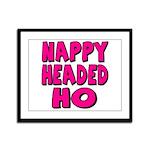Nappy Headed Ho Pink Design Framed Panel Print